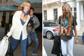 Cara Delevigne y Georgia May Jagger visten skinny jeans para marcar su estilo
