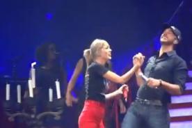 Taylor Swift canta con Luke Bryan en concierto - Video