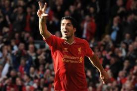 Video: Luis Suárez anotó espectacular hat trick en victoria de Liverpool