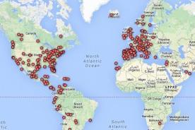 Google Maps muestra las regiones del mundo que se unieron al #SOSVenezuela