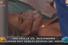 EEG: Alejandra se desvanece tras competir con Michelle Soifer - Video