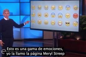Ellen DeGeneres explica los emoticones del WhatsApp- VIDEO