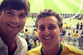 Ashton Kutcher vio en vivo y en directo la derrota de Brasil [Foto]