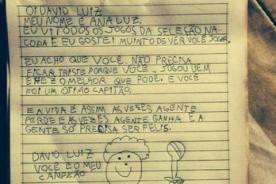 David Luiz recibe emotiva carta de pequeña fan tras perder ante Alemania