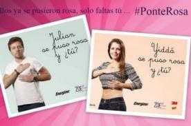 Yiddá Eslava y Julián Zucchi se unen a campaña contra el cáncer de mama [Foto]