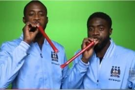 Video: Kolo y Yaya Touré desean feliz navidad - Manchester City