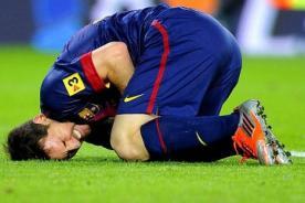 Video: Barcelona confirmó que Lionel Messi será baja hasta el 2014