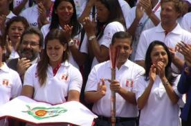 Juegos Bolivarianos 2013: Ollanta Humala recibe la antorcha bolivariana