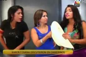 Combate: Karen Dejo y Diana protagonizan fuerte discusión - Video