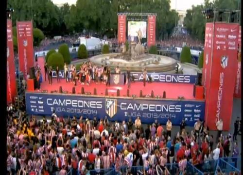 Atlético de Madrid: Celebración de la Liga BBVA en vivo y en directo