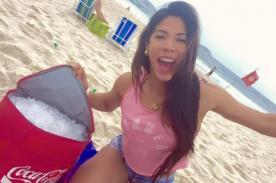 Facebook: ¡Karen Dejo se muestra su voluptuosidad en sensuales fotos en la playa! - FOTOS