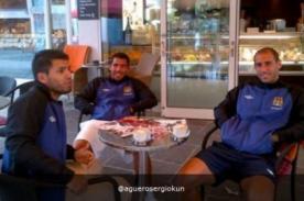 Foto: Tévez, Aguero y Zabaleta se relajan en Austria