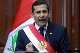 Ollanta Humala invertirá 4 millones para salud pública - Mensaje presidencial 2012