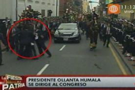 Desconocido sorprendió a Ollanta Humala cuando hizo su paso al Congreso - Video