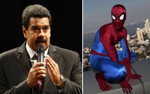 Hombre Araña es culpado de violencia en Venezuela por Nicolás Maduro
