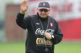 Manuel Burga anunció que Sergio Markarián acabó su ciclo en Perú