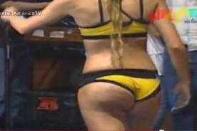 Esto es Guerra: Millet Figueroa muestra celulitis en vivo - Video