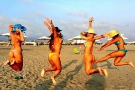 Esto es Guerra: Las chicas de 'Las Cobras' muestran sus atributos en la playa – FOTOS