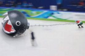 Sochi 2014: Carrera de patinaje al fiel estilo de Mario Kart - VIDEO