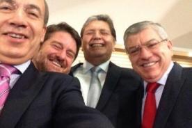 Alan García comparte su 'selfie' con otros expresidentes en Twitter