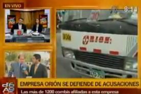 Abogado de la empresa Orion responsabiliza a la Municipalidad de Lima