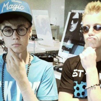 Justin Bieber imita a Harry Potter en una tienda