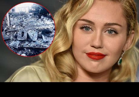 Miley Cyrus y Liam Hemsworth muestran como quedó su casa tras incendios en California