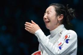 Esgrimista coreana lloró por más de una hora al ser eliminada de Londres 2012