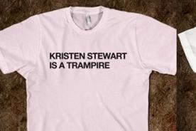 Kristen Stewart: Lanzan camisetas que la tildan de tramposa