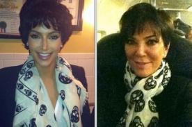 Kim Kardashian juega con su imagen para parecerse a su mamá