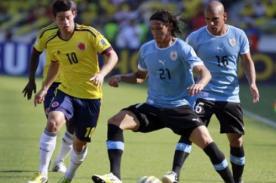 Resultado del partido: Uruguay vs Colombia (2-0) – Eliminatorias Brasil 2014