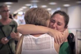 La sorpresa: Conmovedor video de emigrantes reencontrándose con sus familias