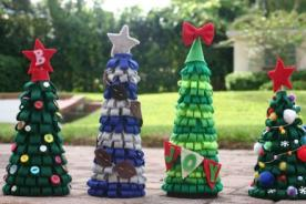 Árbol de Navidad con rollos de papel higiénico ¿Cómo hacerlo?