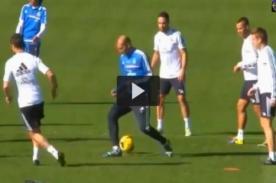 Champions League: Xabi Alonso humilla a Zidane en entrenamiento - VIDEO