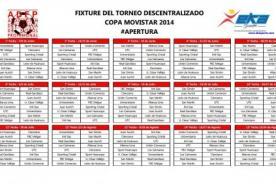 Descentralizado 2014: Fixture completo del Torneo Apertura