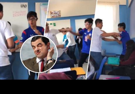 Alumnos se enfrentaban en salón de clase, pero detalle inesperado sorprendió a todos