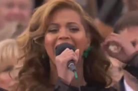 Video: Beyoncé cantó el himno de EE.UU en la investidura de Barack Obama