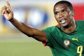 Samuel Eto'o dice adiós a la selección de Camerún