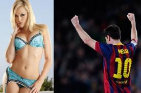 Por error vinculan a Messi y actriz porno en la alineación de Barcelona