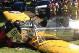 ¡Harrison Ford en estado crítico tras accidente en avioneta! [FOTOS]