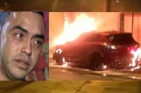 Revelan la razón por la que atentaron contra la vida de Diego Chávarri incendiando su auto