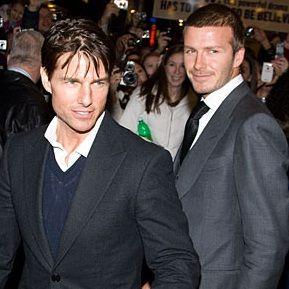 Tom Cruise: Me encantaría hacer una película con David Beckham
