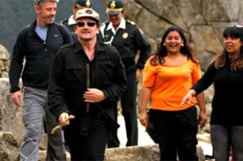 Bono de U2 recorrió Machu Picchu y quedó impresionado