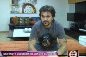 Juanes: El sólo hecho de cantar y tocar la guitarra es una bendición