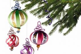 Adornos navideños: Esferas de papel para decorar el Árbol de Navidad