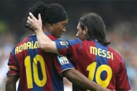 Ronaldinho: 'Me arrepiento de no haber jugado más años con Lionel Messi'