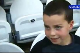 Así se infiltró este niño en la banca del Real Madrid - Vídeo