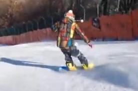 CNBLUE: Yonghwa muestra sus habilidades haciendo snowboard - Video
