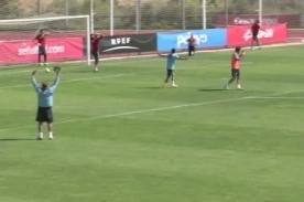 Video: Espectacular gol de Pedro Rodríguez en entrenamiento de España