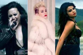 YouTube Music Awards: Demi Lovato, Miley Cyrus y Selena Gomez se enfrentan